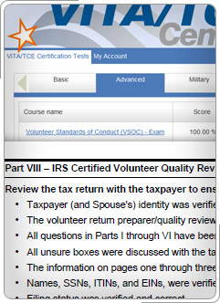 Irs link and learn vita