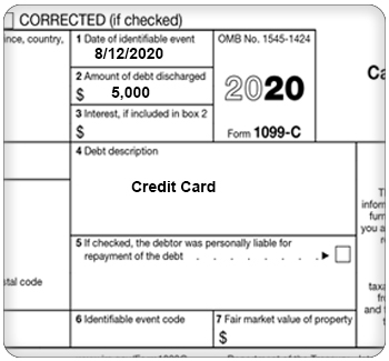 Irs courseware link learn taxes canceled credit card debt top of form 1099 c reheart Gallery